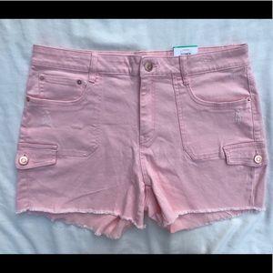 TT NWT Pink Women's Cargo Shorts